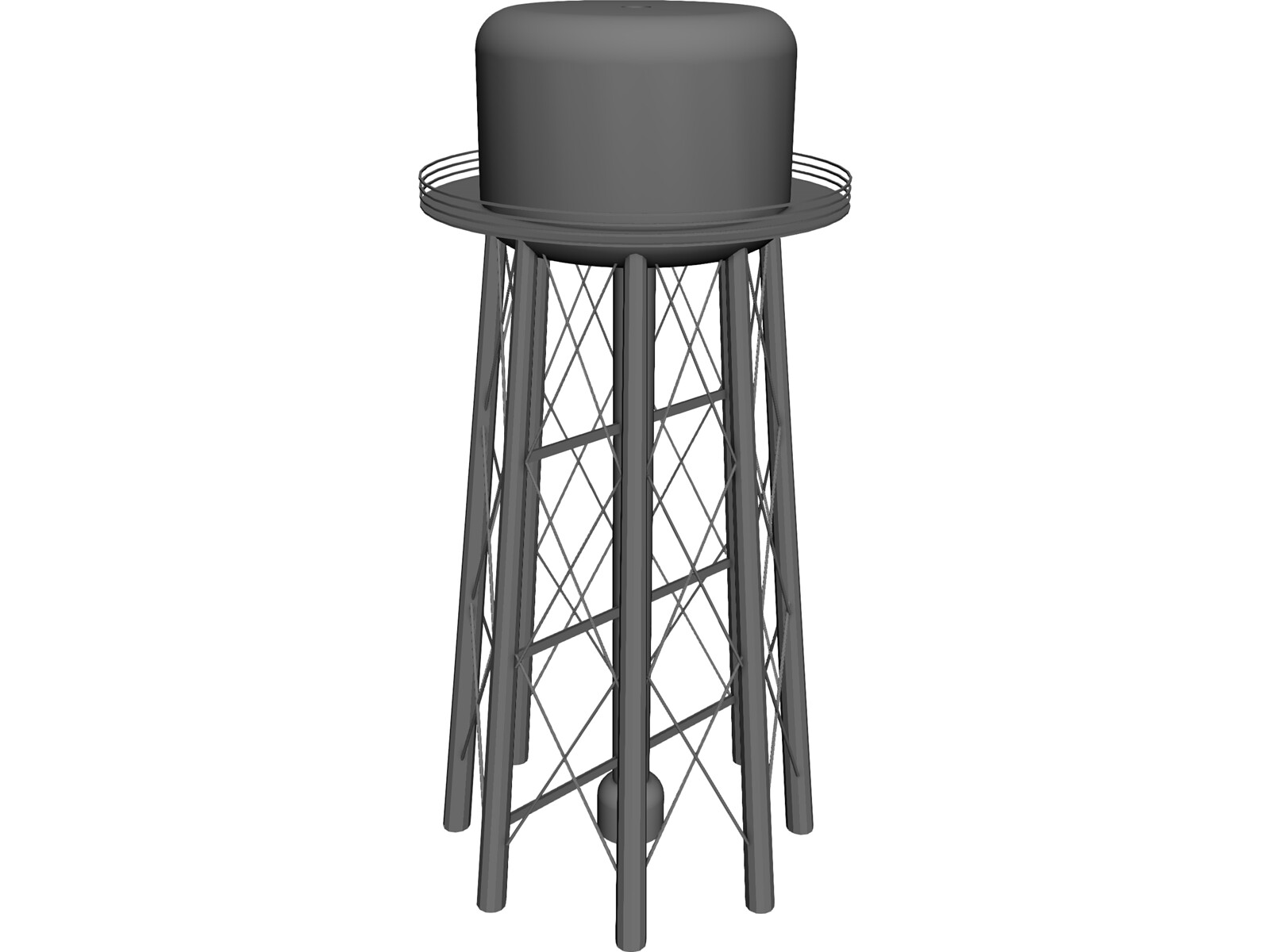 Model Water Tower Water Tower 3d Model