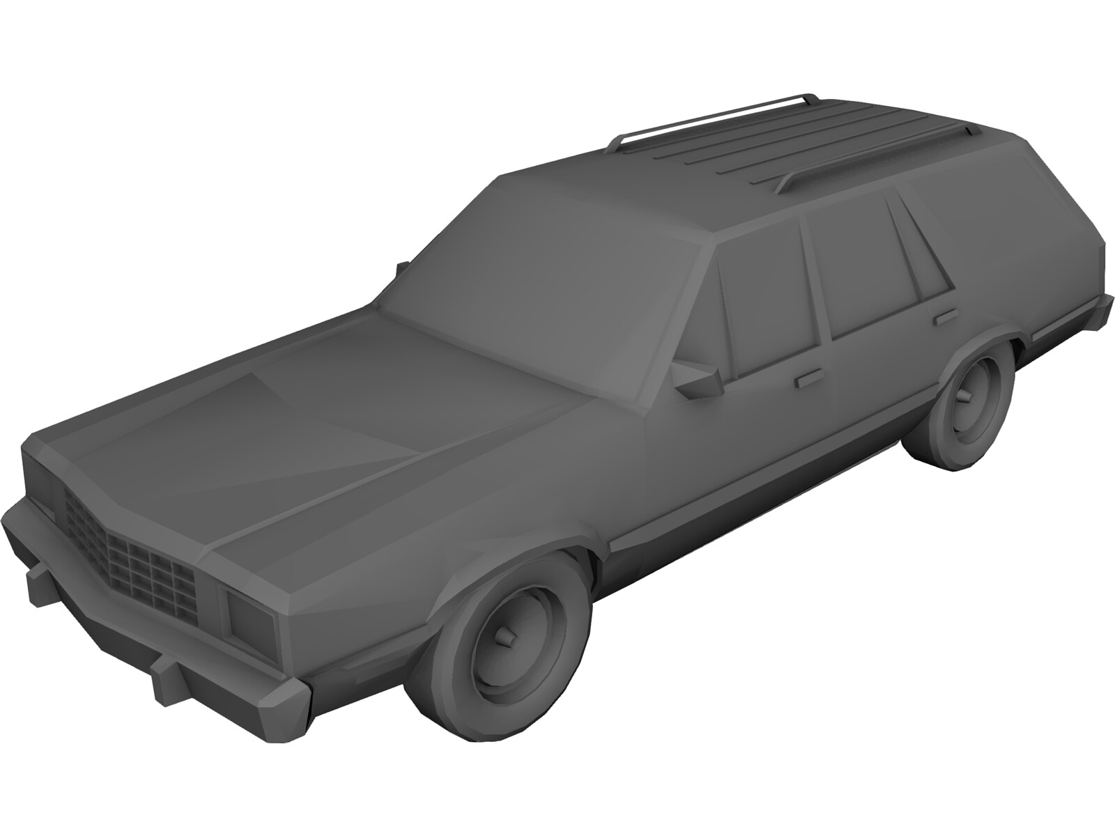 Ford Fairmont Wagon (1979) 3D Model