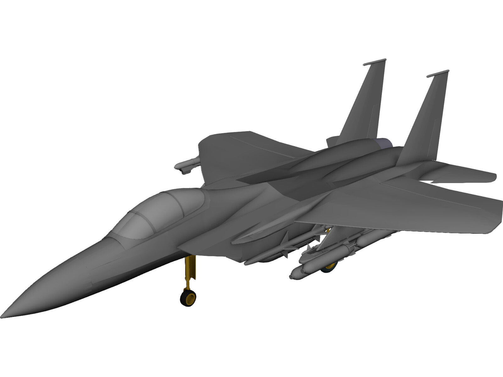 F-15A 3D CAD Model - 3D CAD Browser