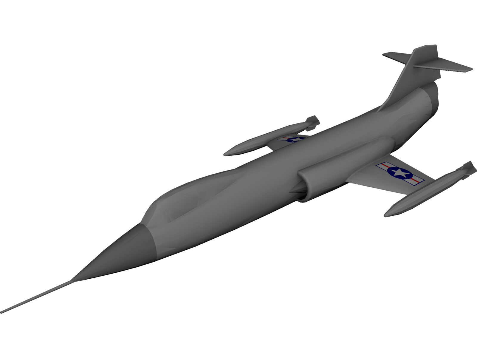 Lockheed F-104 Starfighter 3D CAD Model