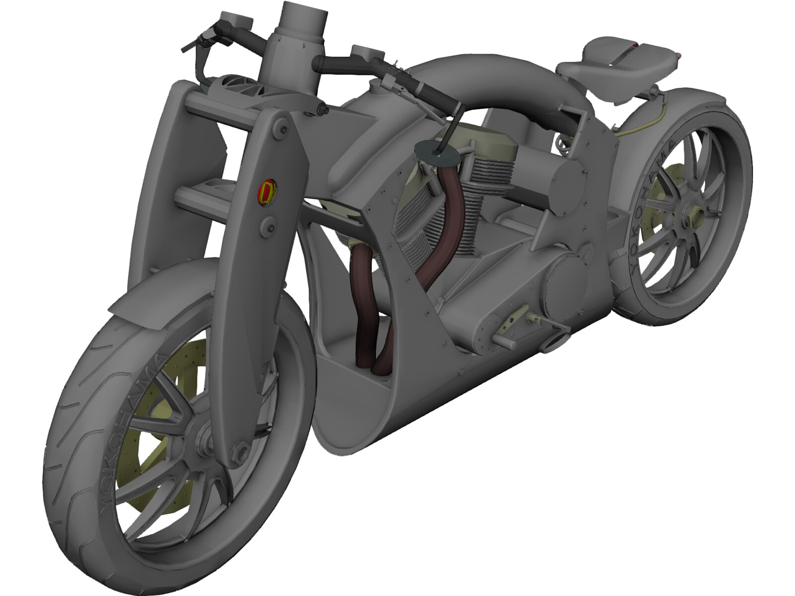 Motorcycle yokohama 3d cad model 3d cad browser Cad models