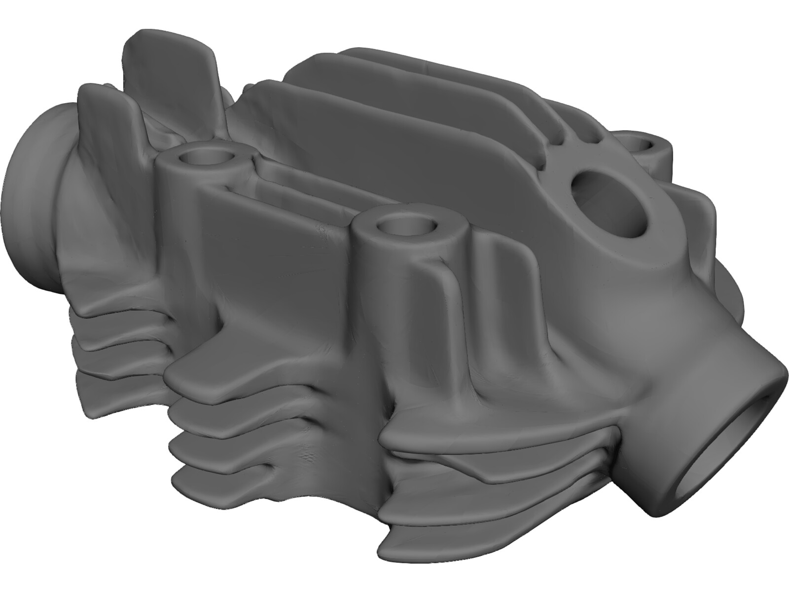 Engine Head Brough Superior 680 3D Model