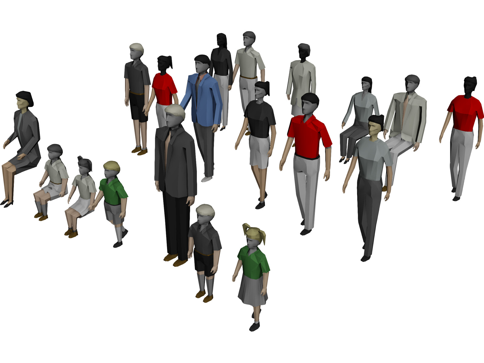 People Collection 3d Model 3d Cad Browser