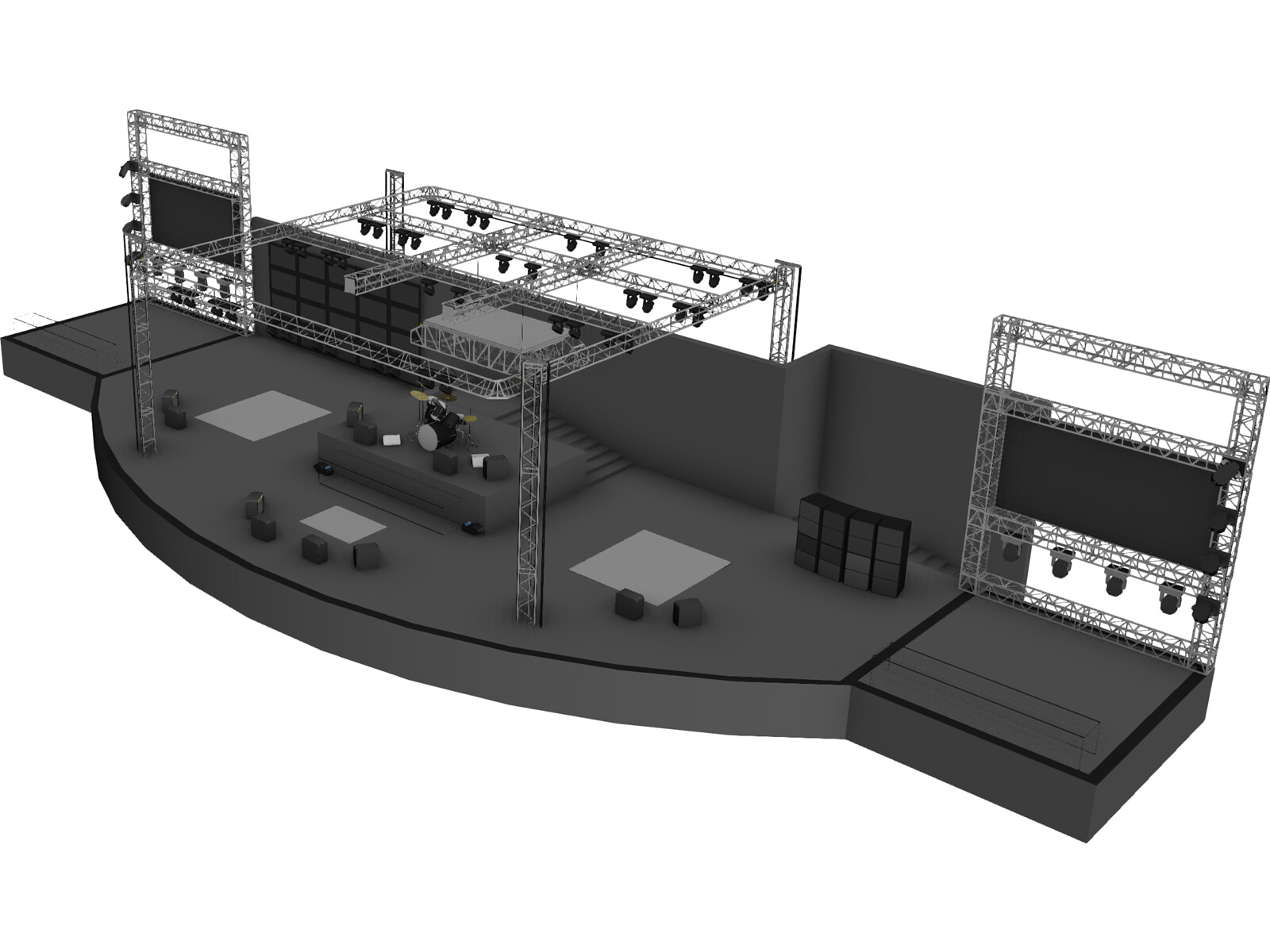 Concert Stage 3D Model - 3D CAD Browser