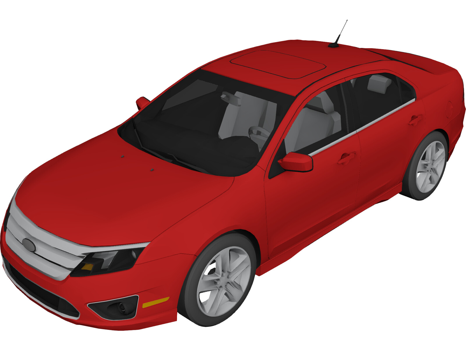 Ford Fusion (2010) 3D Model