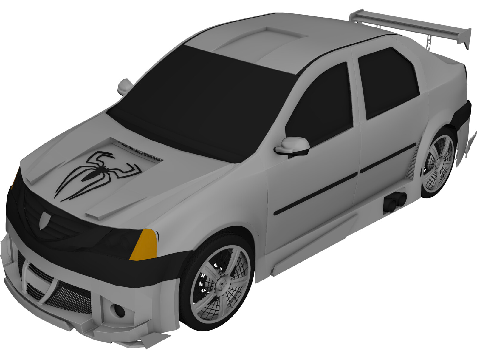 Dacia Logan Tuning 3D Model
