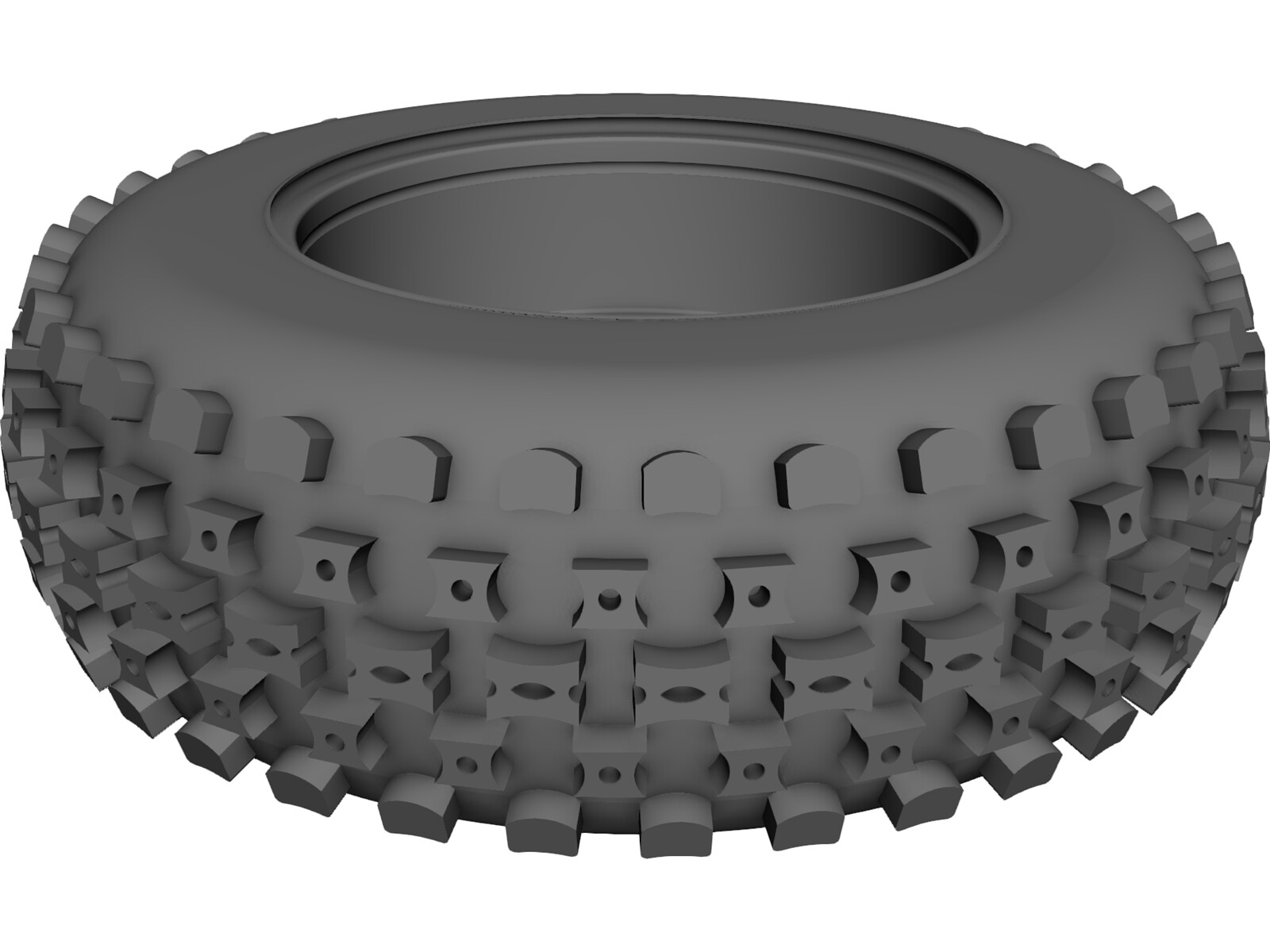 Wheel and Tire ATV Front 3D CAD Model