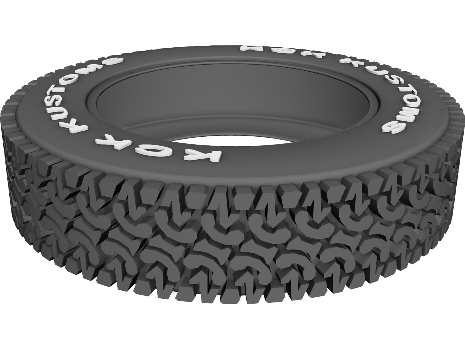 "Tire KCK 35"" A/T 3D CAD Model"