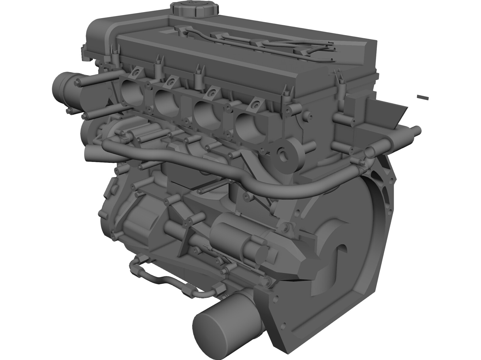 Engine Nissan Sr20 3d Model 3d Cad Browser
