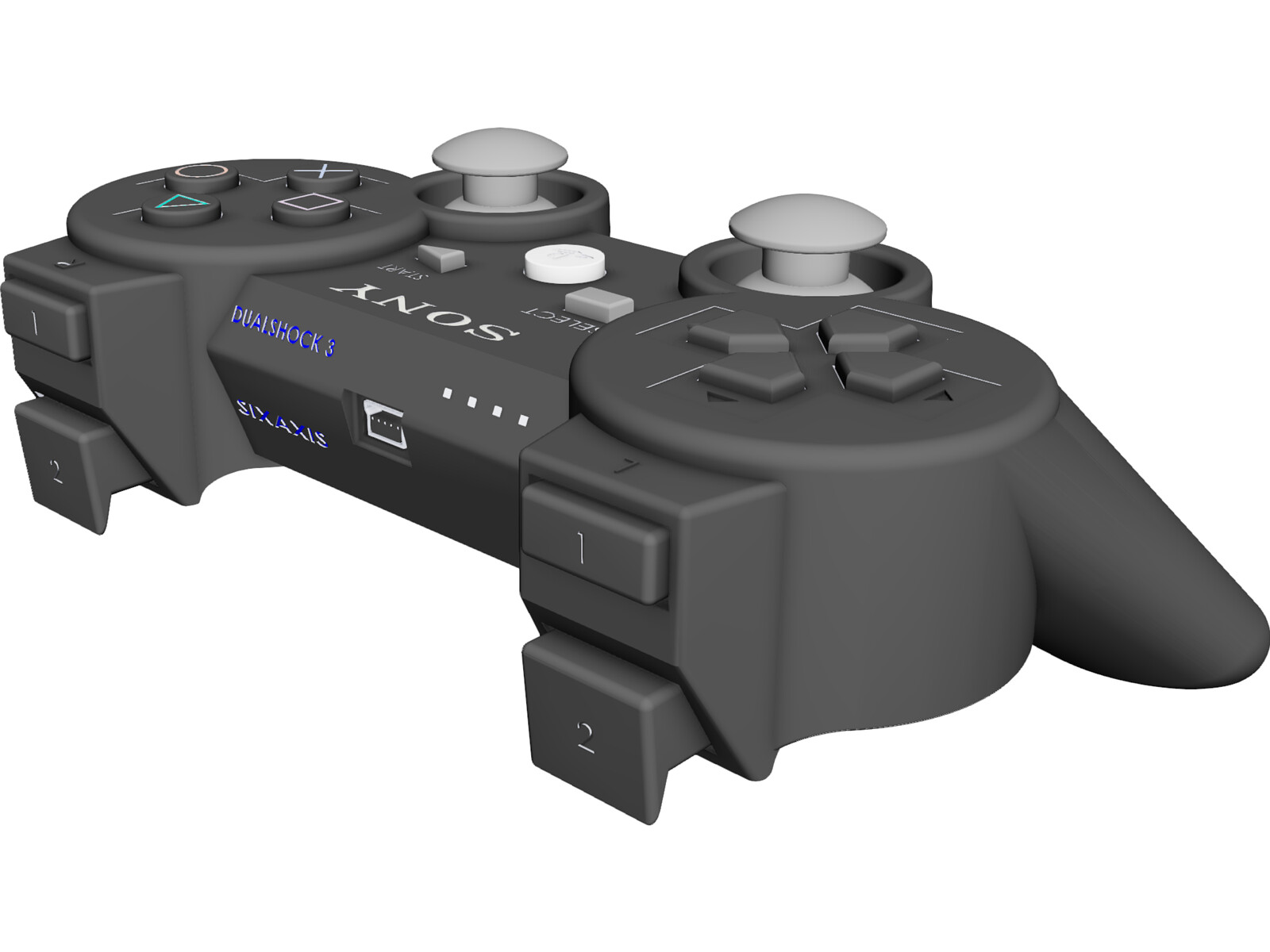 Playstation 3 Controller 3D CAD Model