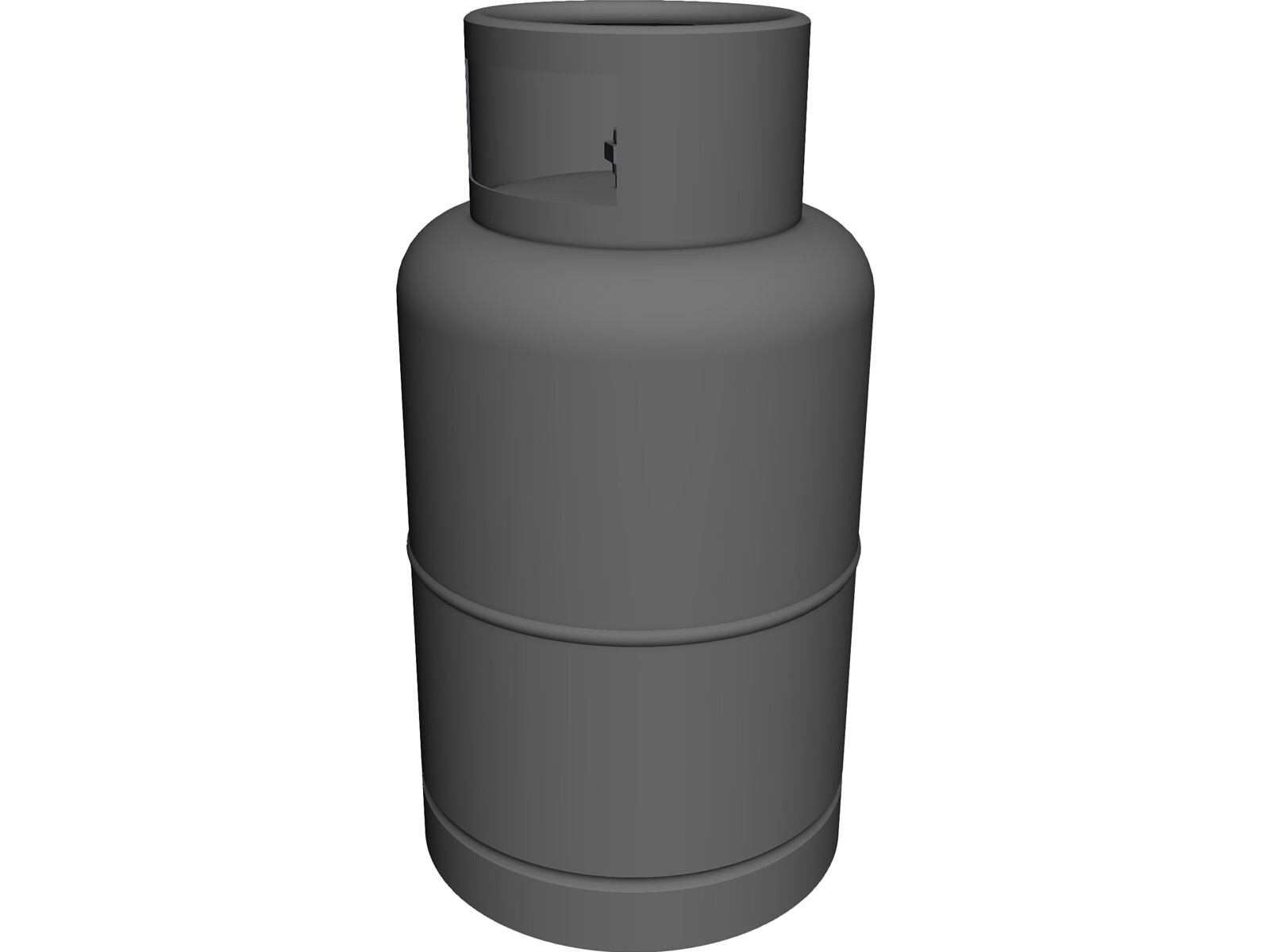 Gas Cylinder [NURBS] 3D Model