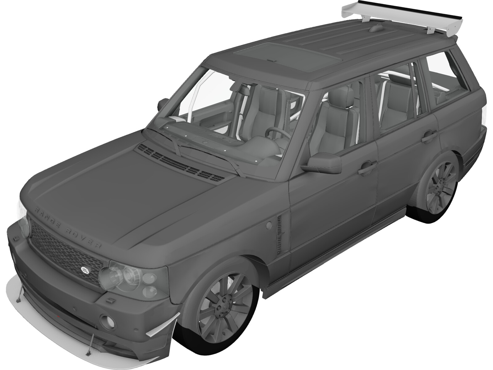Range Rover Sport [Tuned] (2008) 3D Model