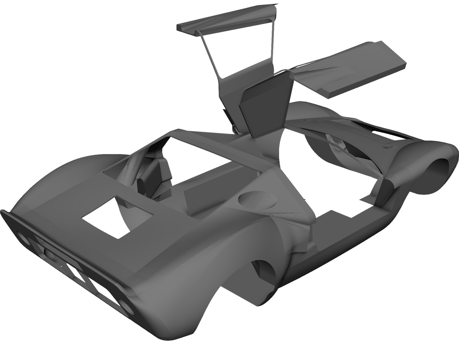 Ford GT40 Body 3D CAD Model