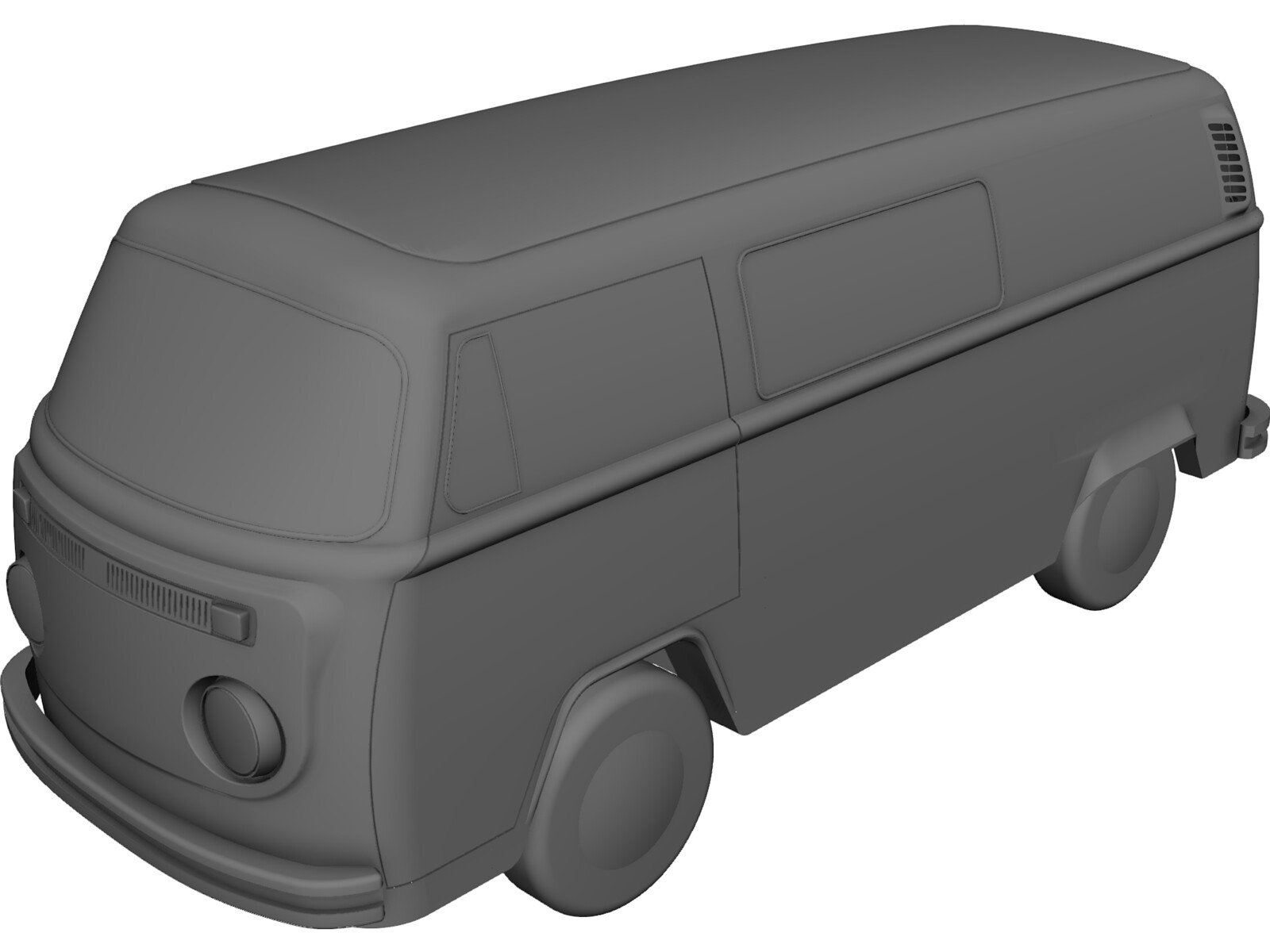 Volkswagen T2b 3d Cad Model Download 3d Cad Browser