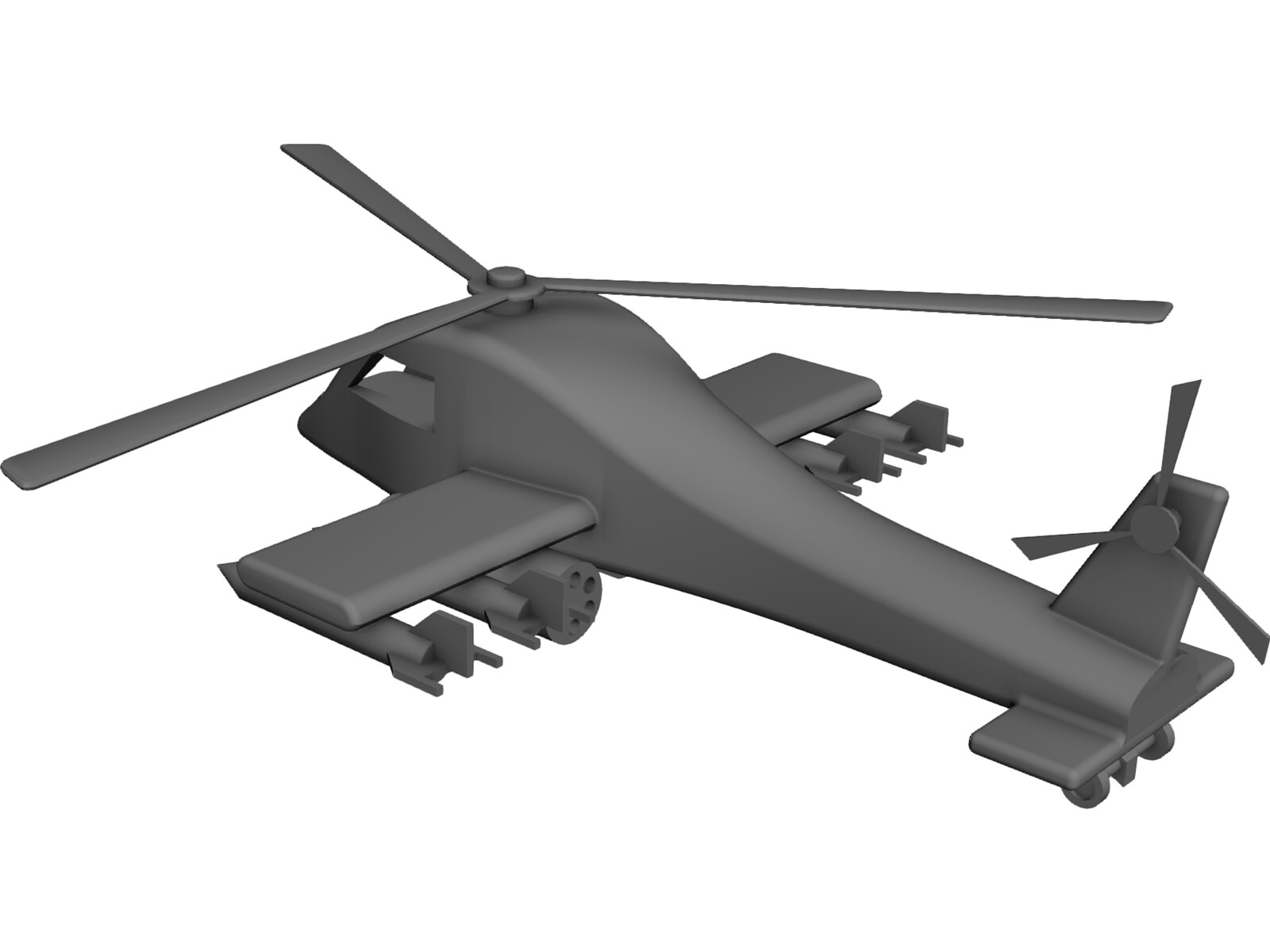 Toy Helicopter 3D CAD Model