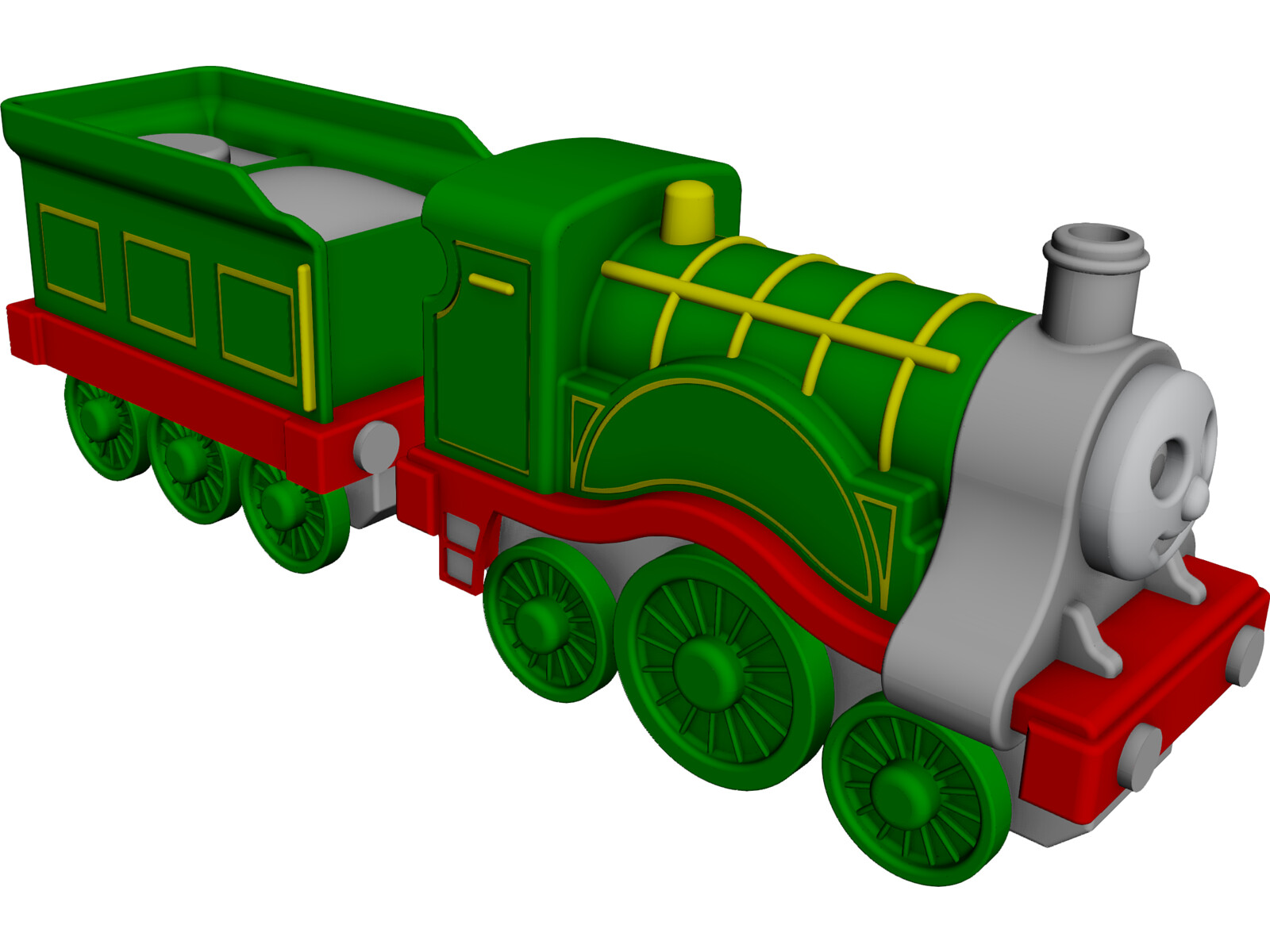 Thomas Locomotive 3D CAD Model