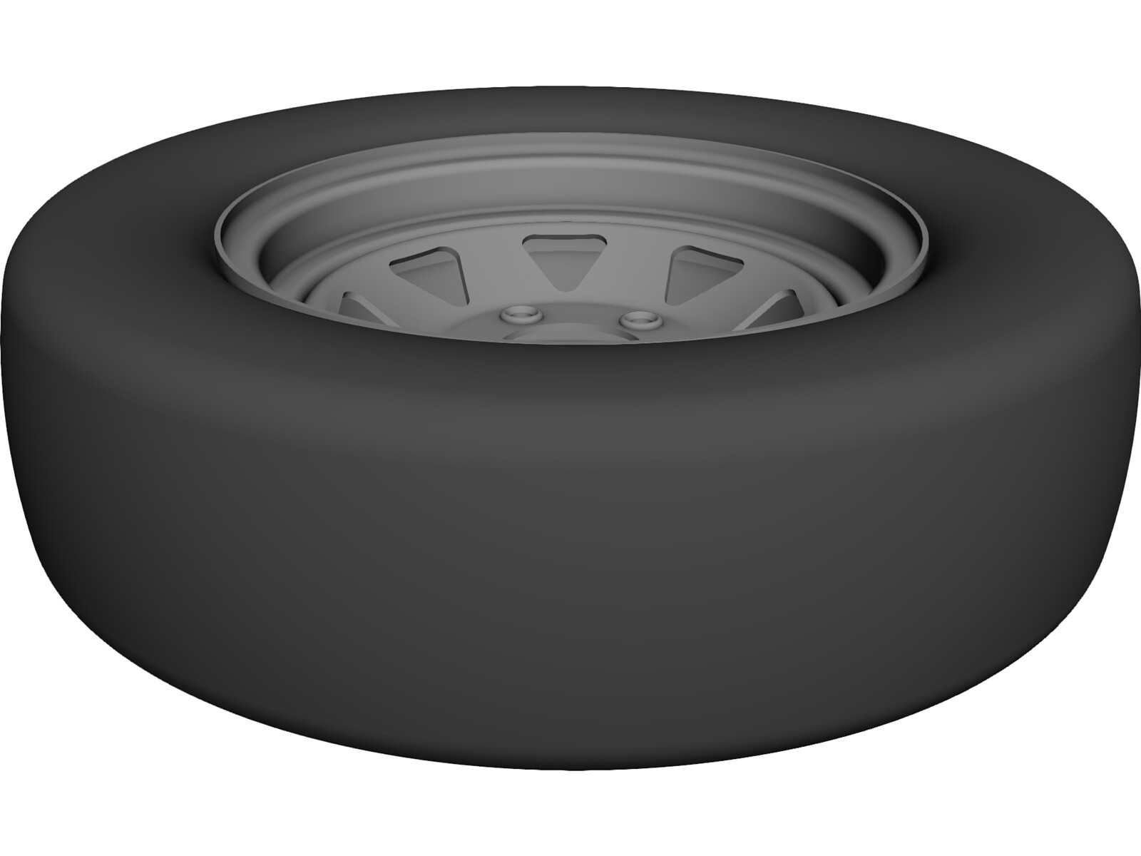 Trailer Wheel 14 Inch 3D CAD Model