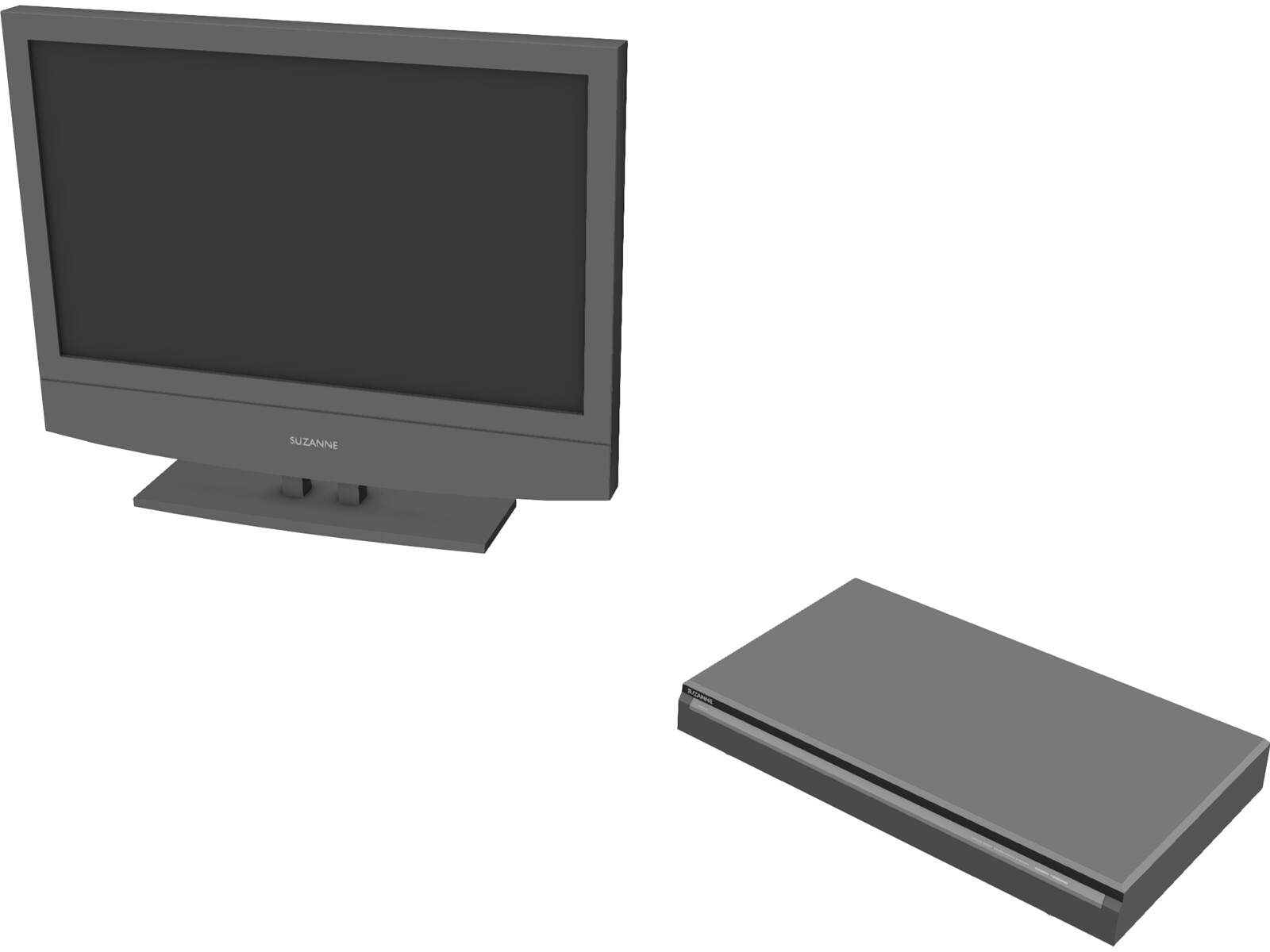 TV and DVD Player 3D Model