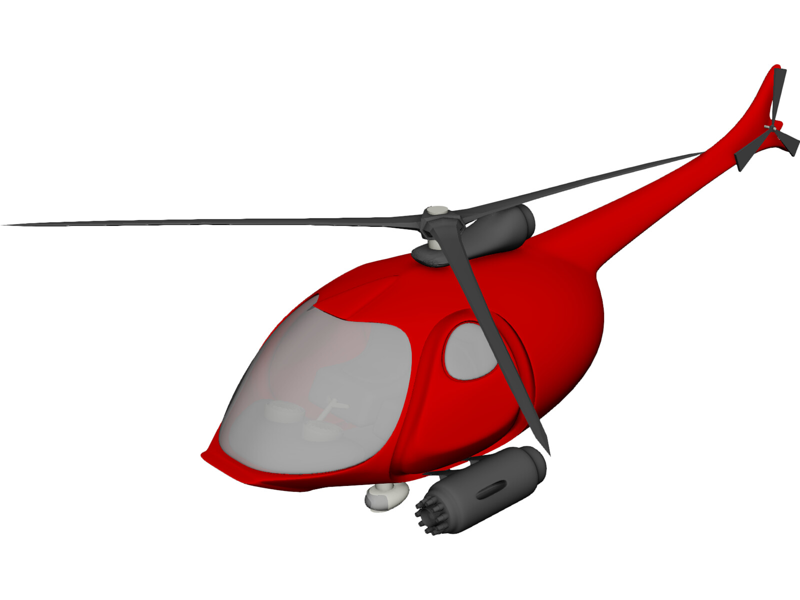 Helicopter New Concept Design 3D Model