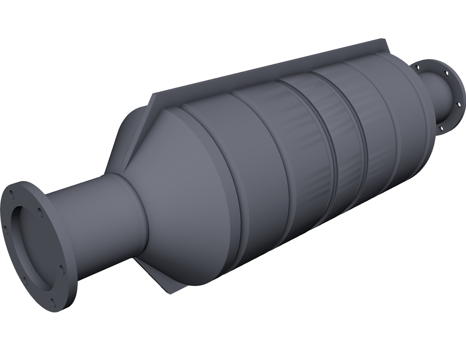 Catalytic Converter 3D CAD Model
