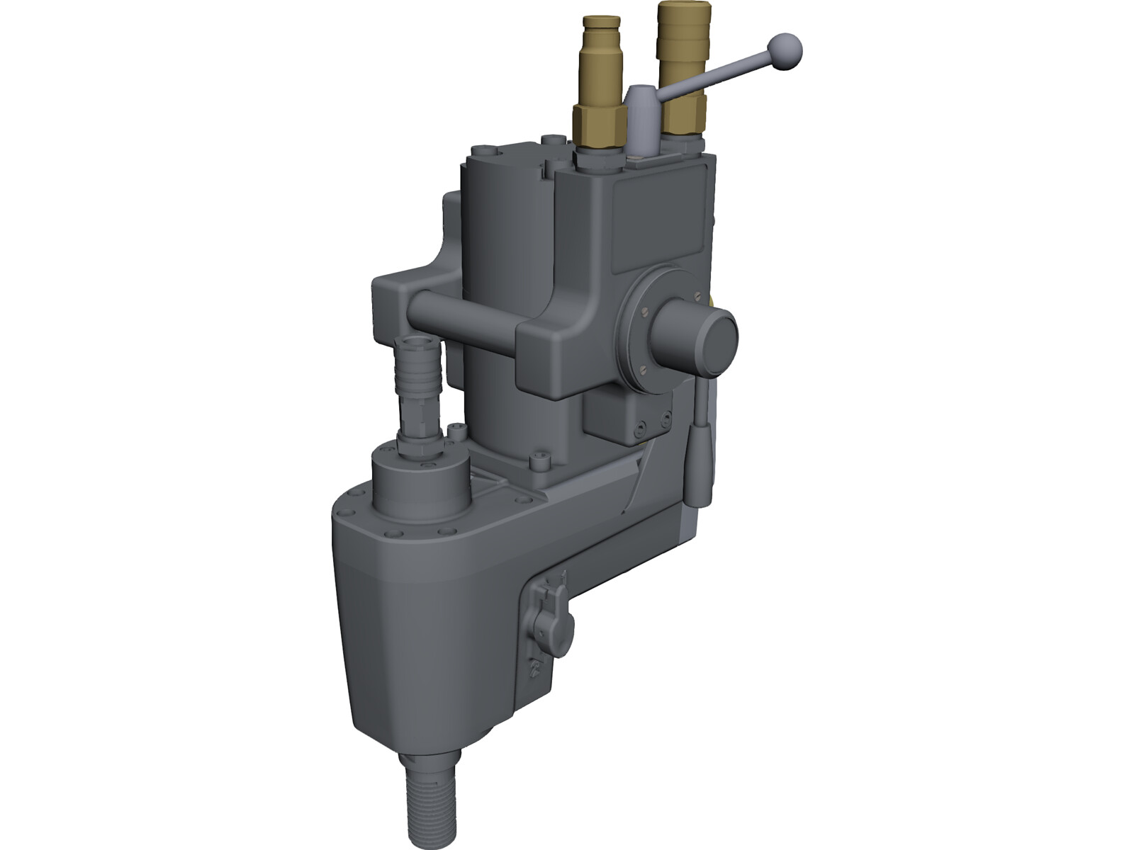 Husqvarna Drillmotor DM406 3D CAD Model