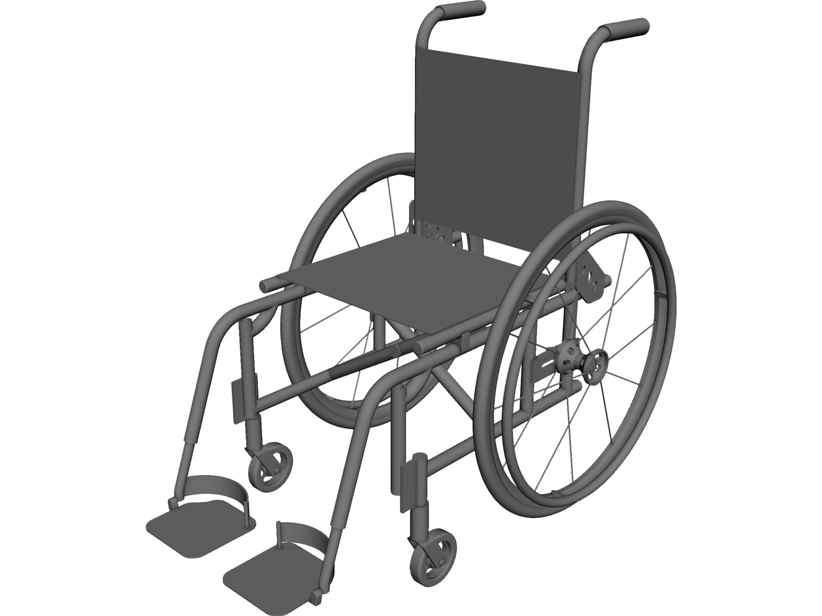 Wheelchair Foldable 3D CAD Model