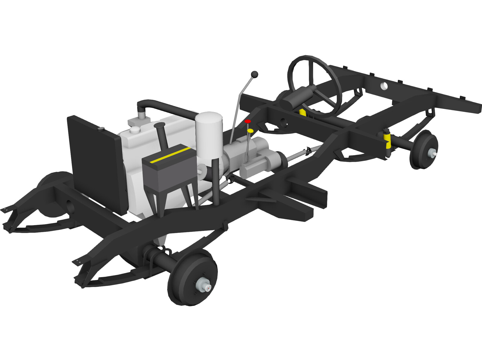 Chassis Land Rover 3D Model