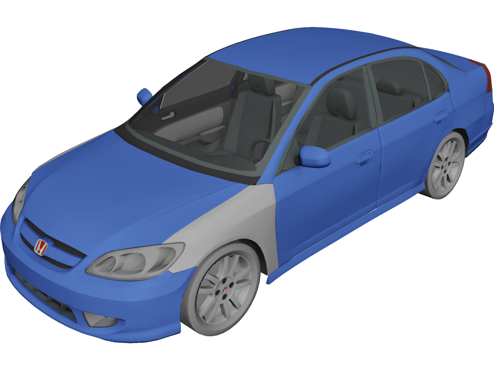 Honda Civic 2005 3d Model 3d Cad Browser