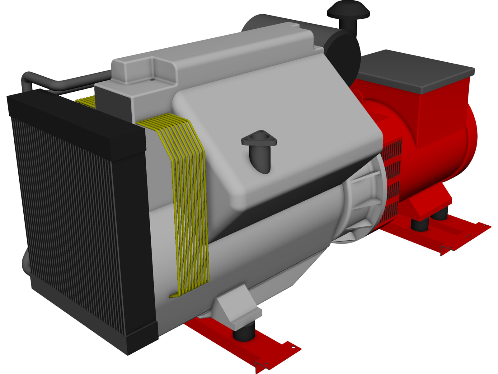 Diesel Generator 3d Cad Model 3d Cad Browser