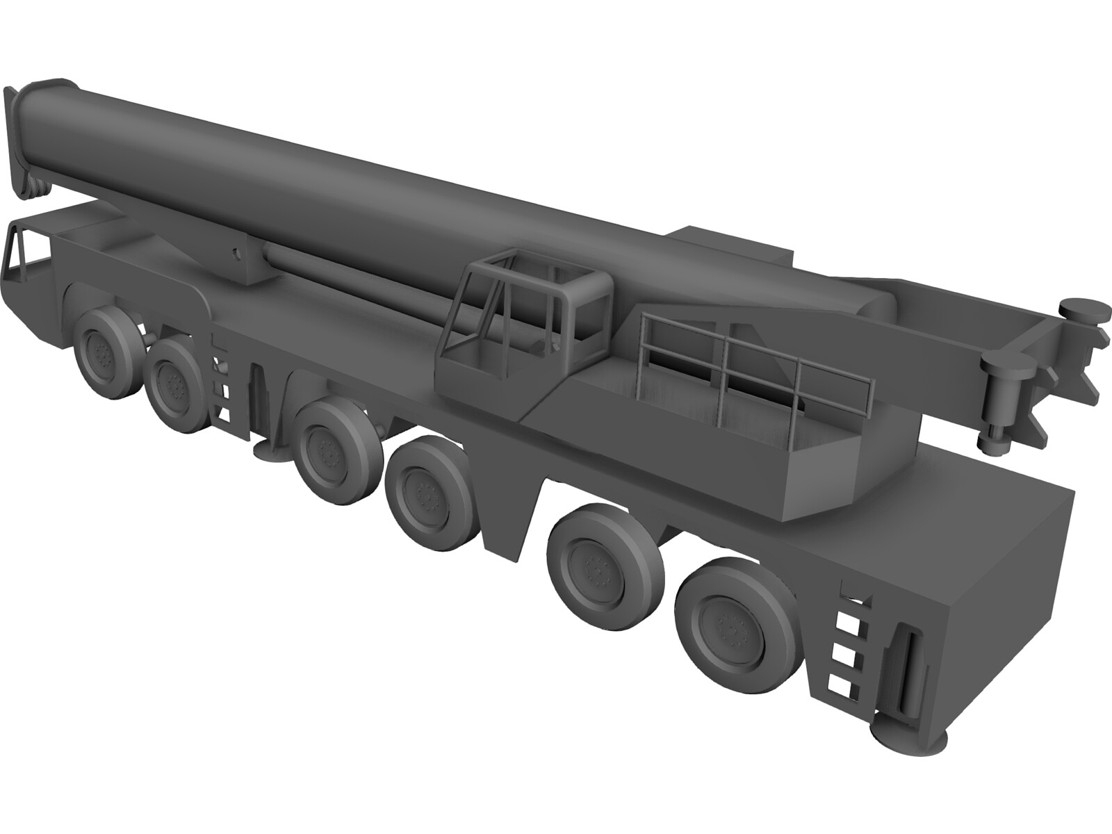 AC250 All Terrain Crane 3D CAD Model