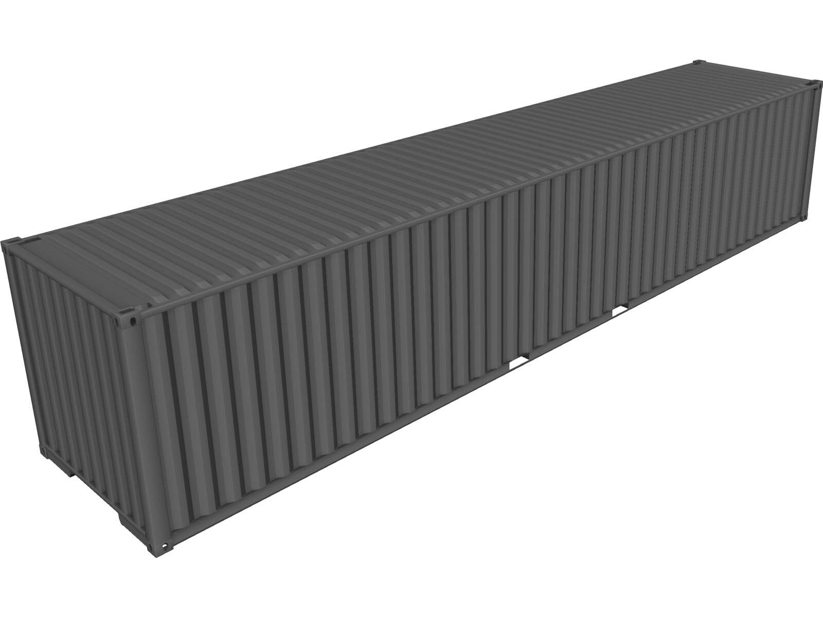 Shipping Container 40` ISO 3D Model