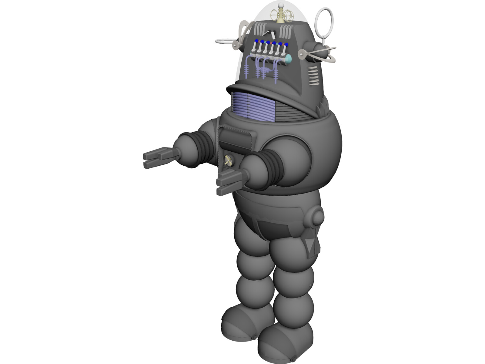 Robby the Robot 3D Model - 3D CAD Browser