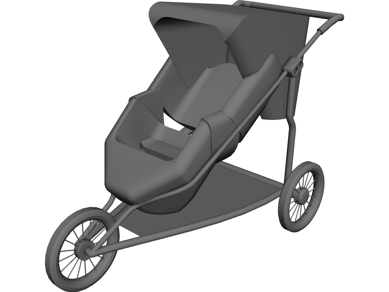 Baby Carriage 3D Model