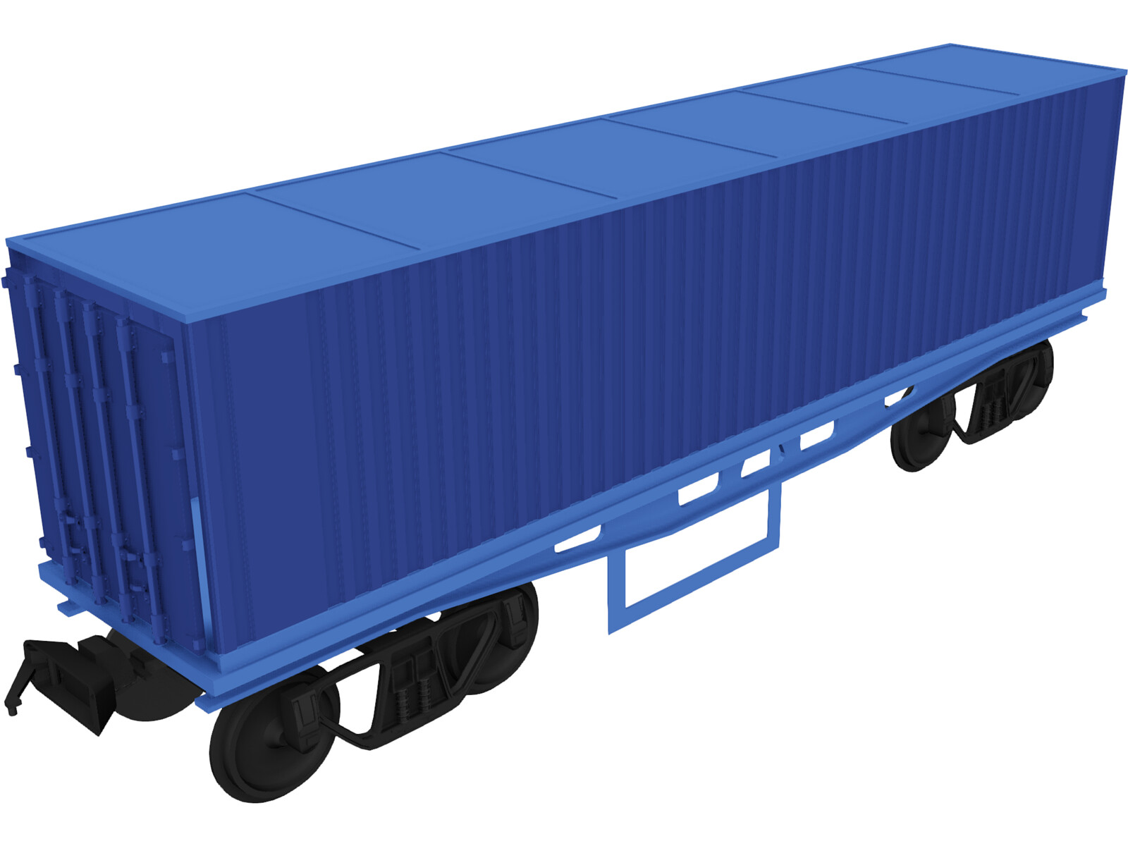 Container on Train truck