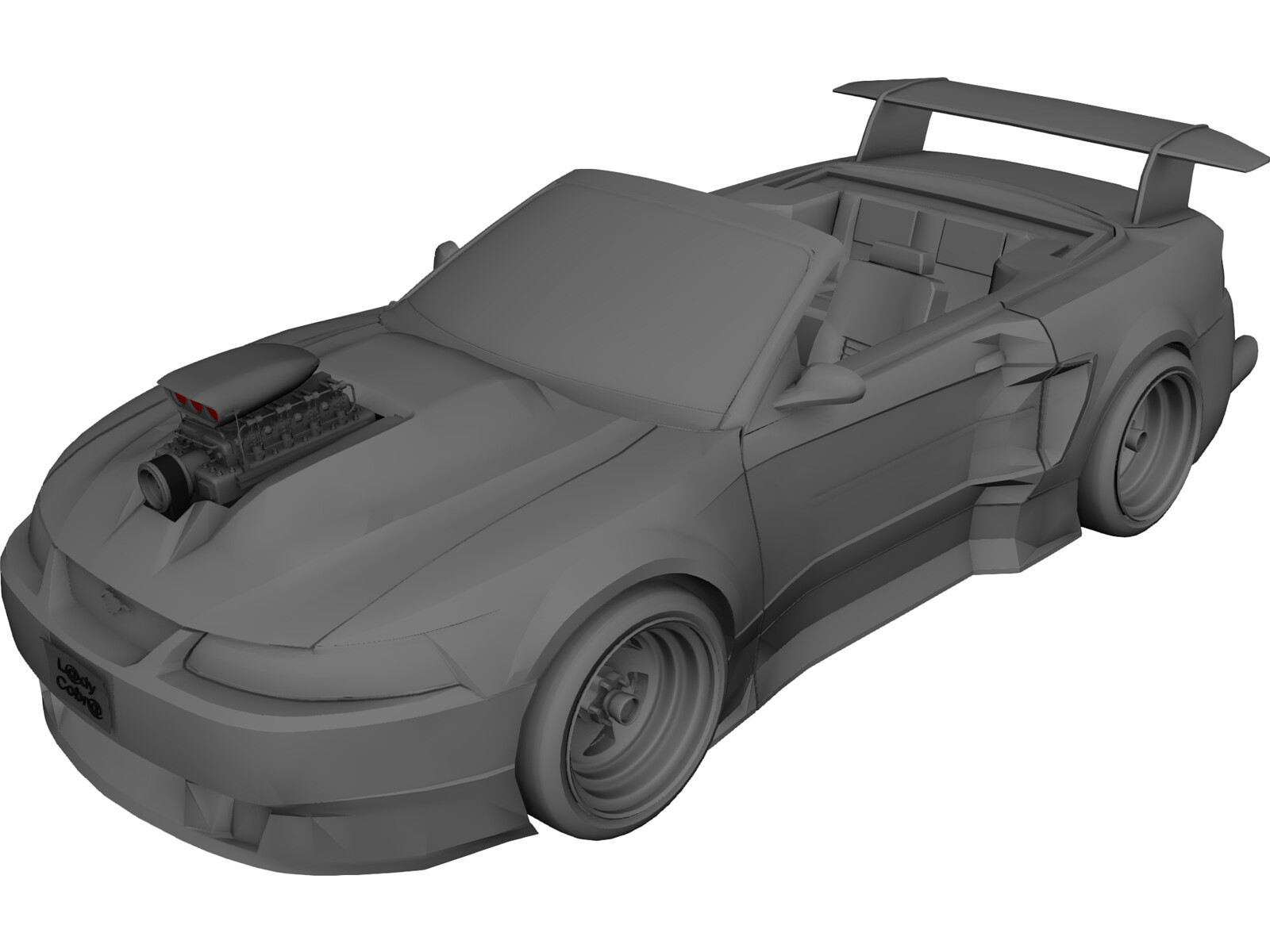 Ford Mustang 2000 [Supercharged] 3D Model