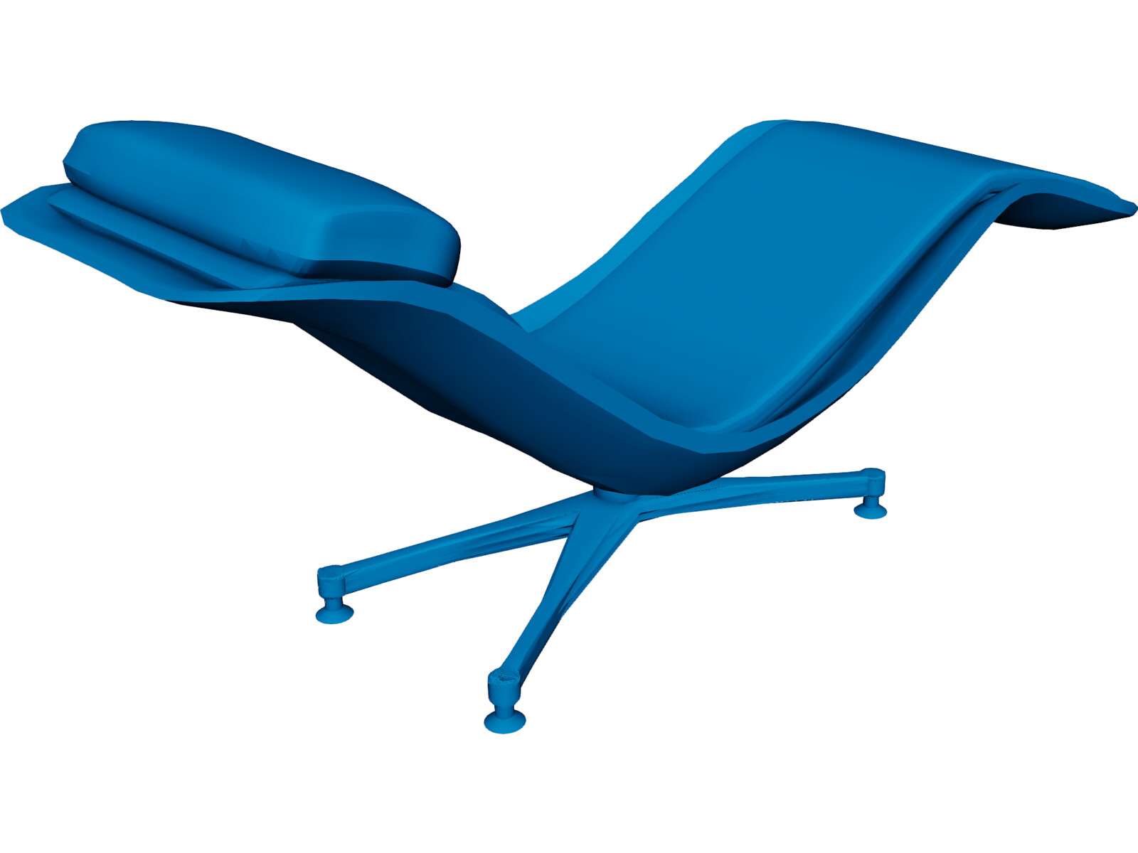 Chair larus relax 3d model 3d cad browser for Chair 3d model maya