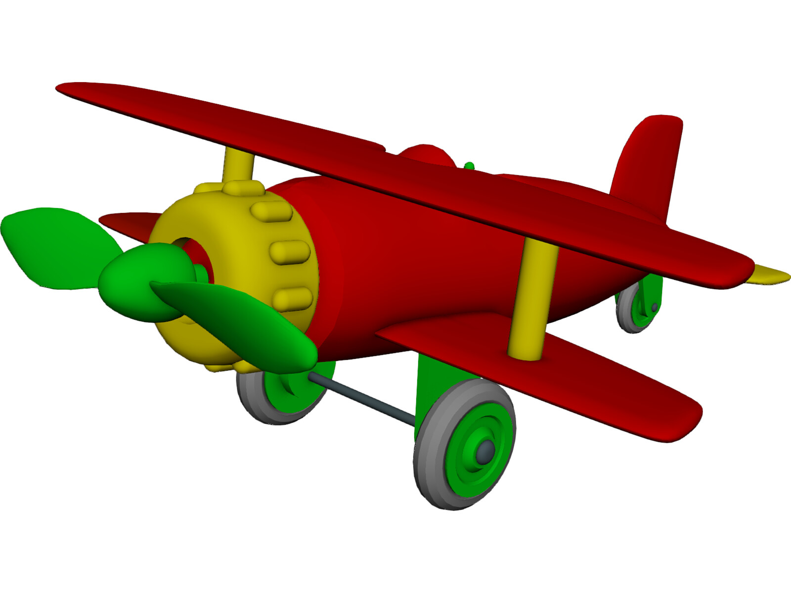 Toy Model Gallery : Airplane toy d model cad browser