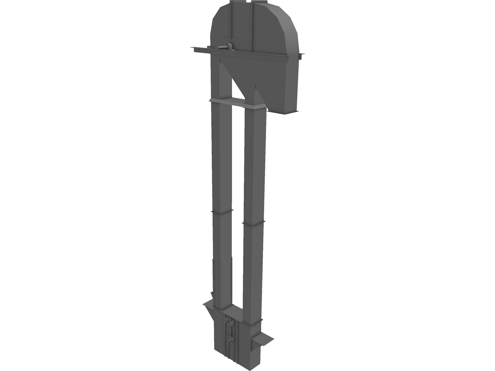 36 Inch Pulley Elevator Leg with Boot and Head 3D Model