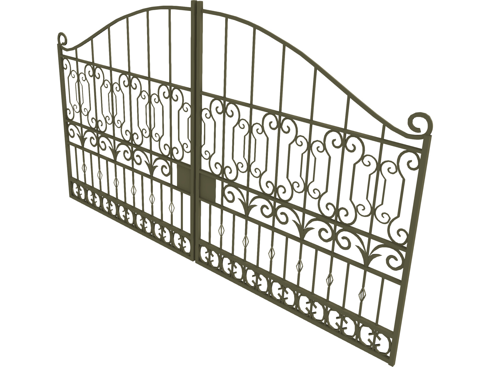 Iron gate d model cad browser