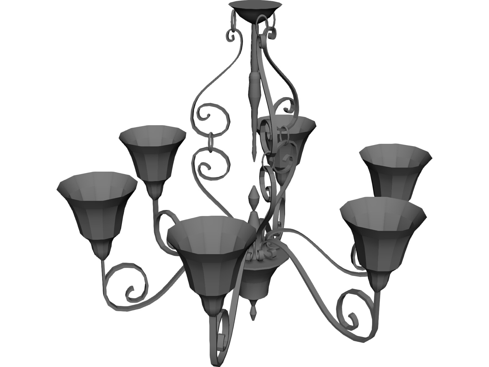 Chandelier 3D Model - 3D CAD Browser