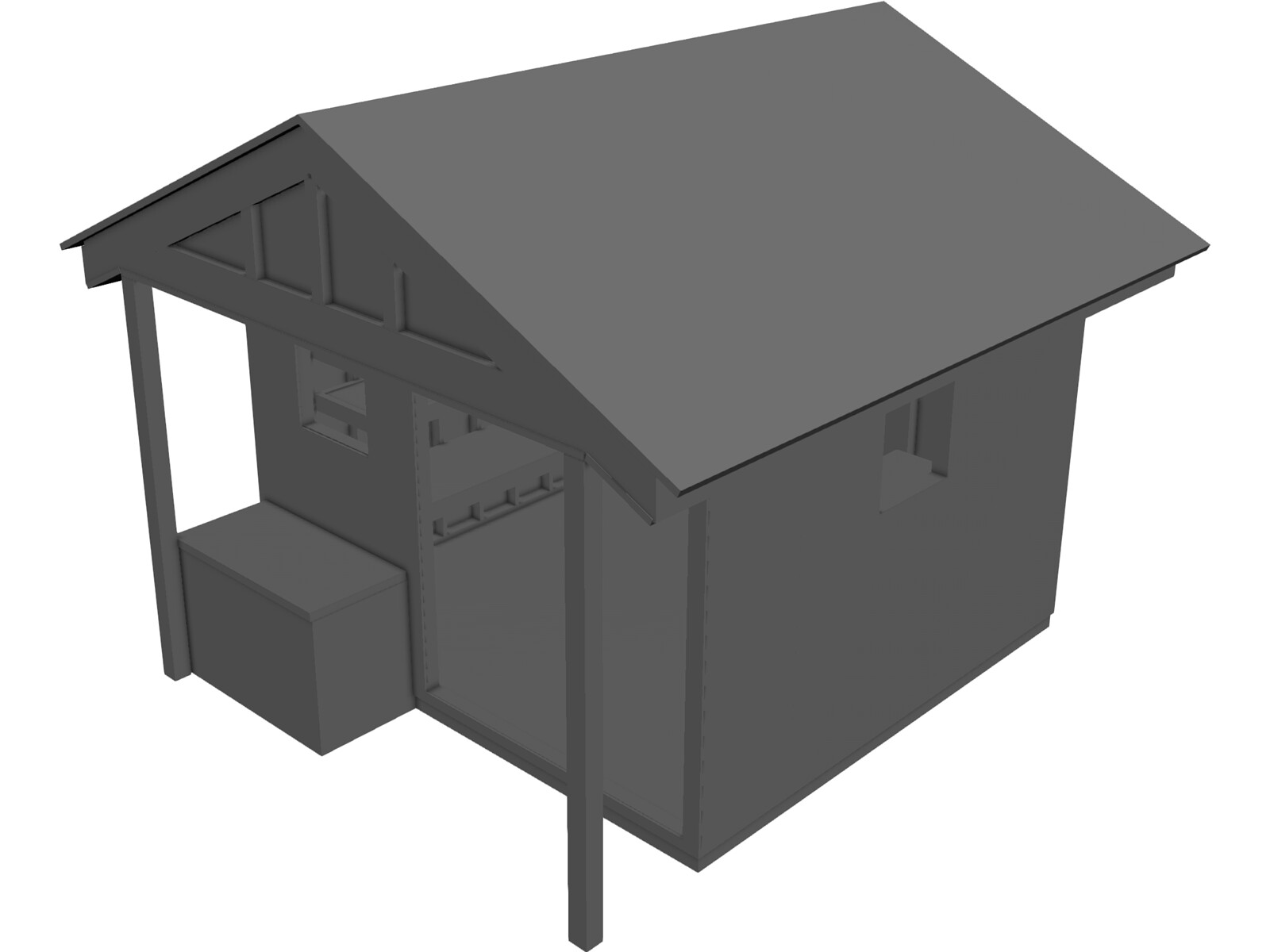 Shed [+Shelves and Table] 3D Model