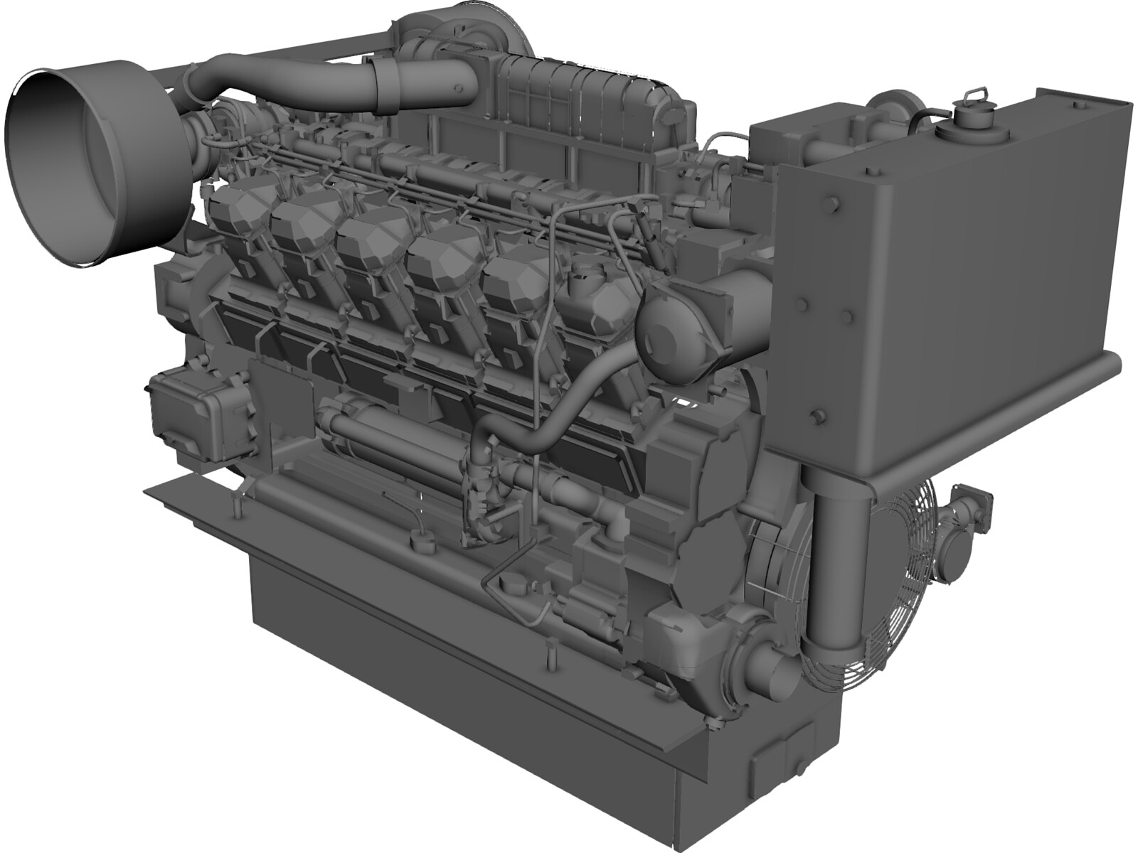 Engine Diesel 3D Model