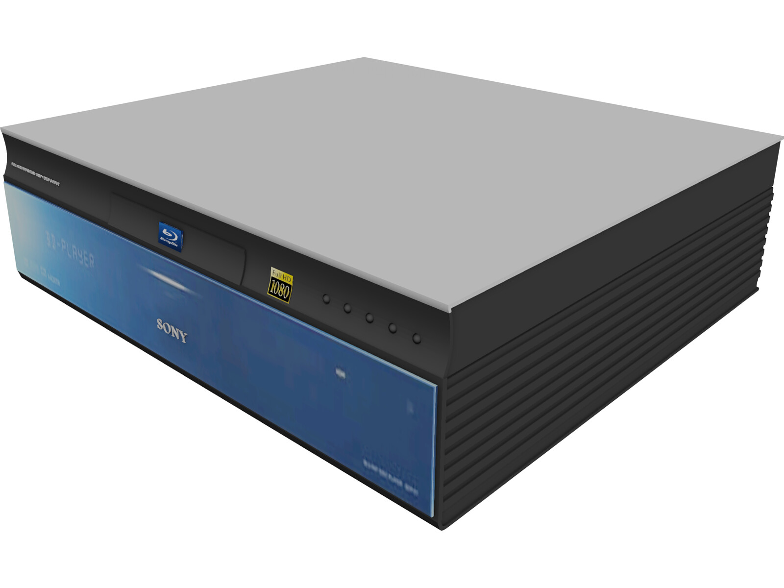 Sony Blu-ray Player 3D Model - 3D CAD Browser