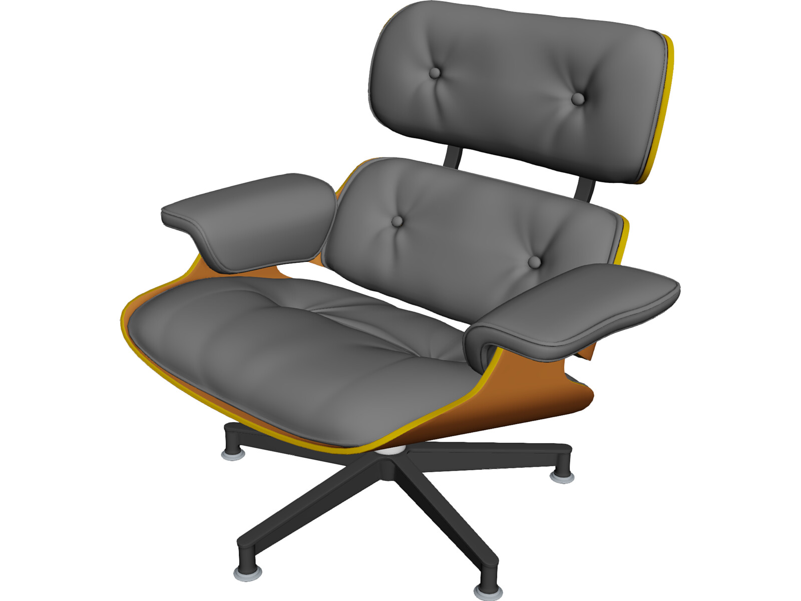 Eames lounge chair 3d model 3d cad browser for Chair 3d model maya