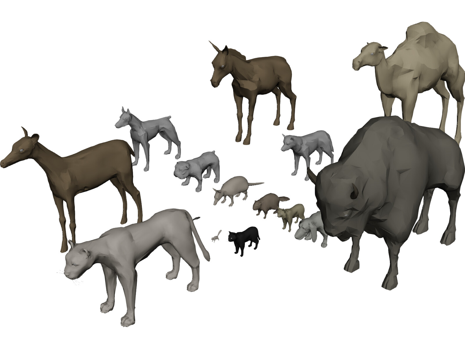 Animals collection 3d model 3d cad browser animals collection 3d model voltagebd Images