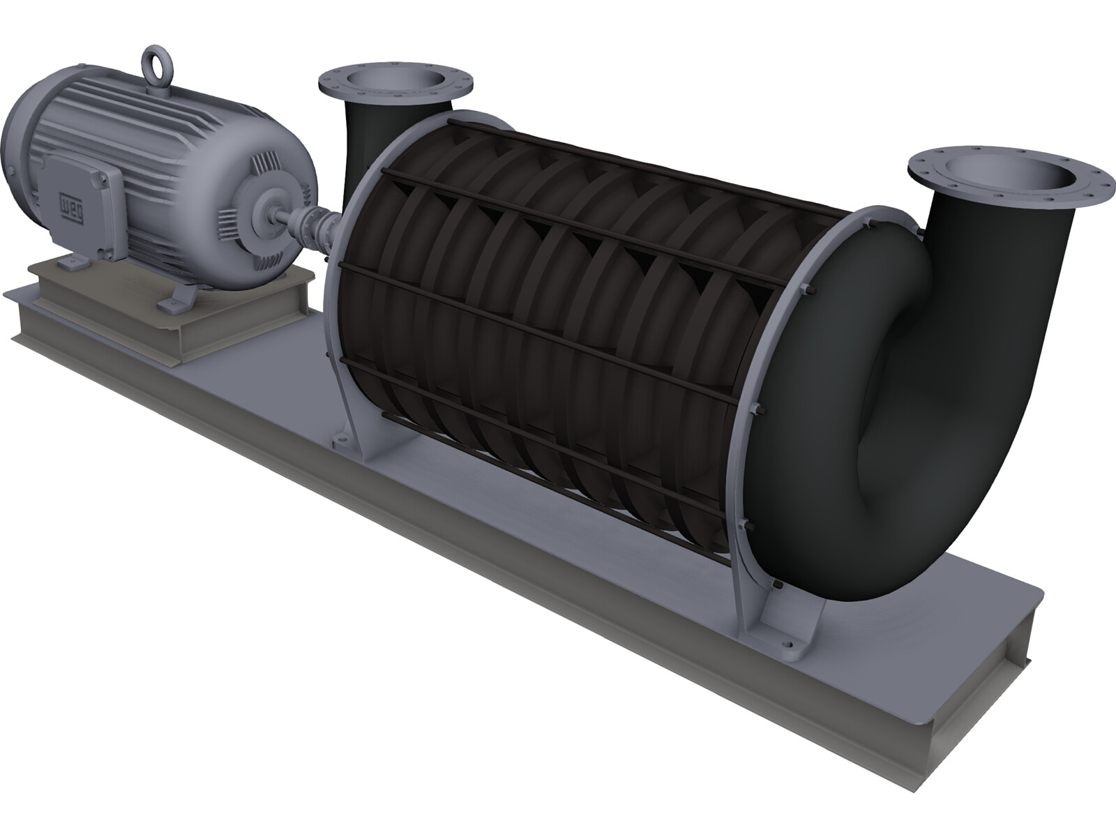 HSI Centrifugal Blower 3D CAD Model
