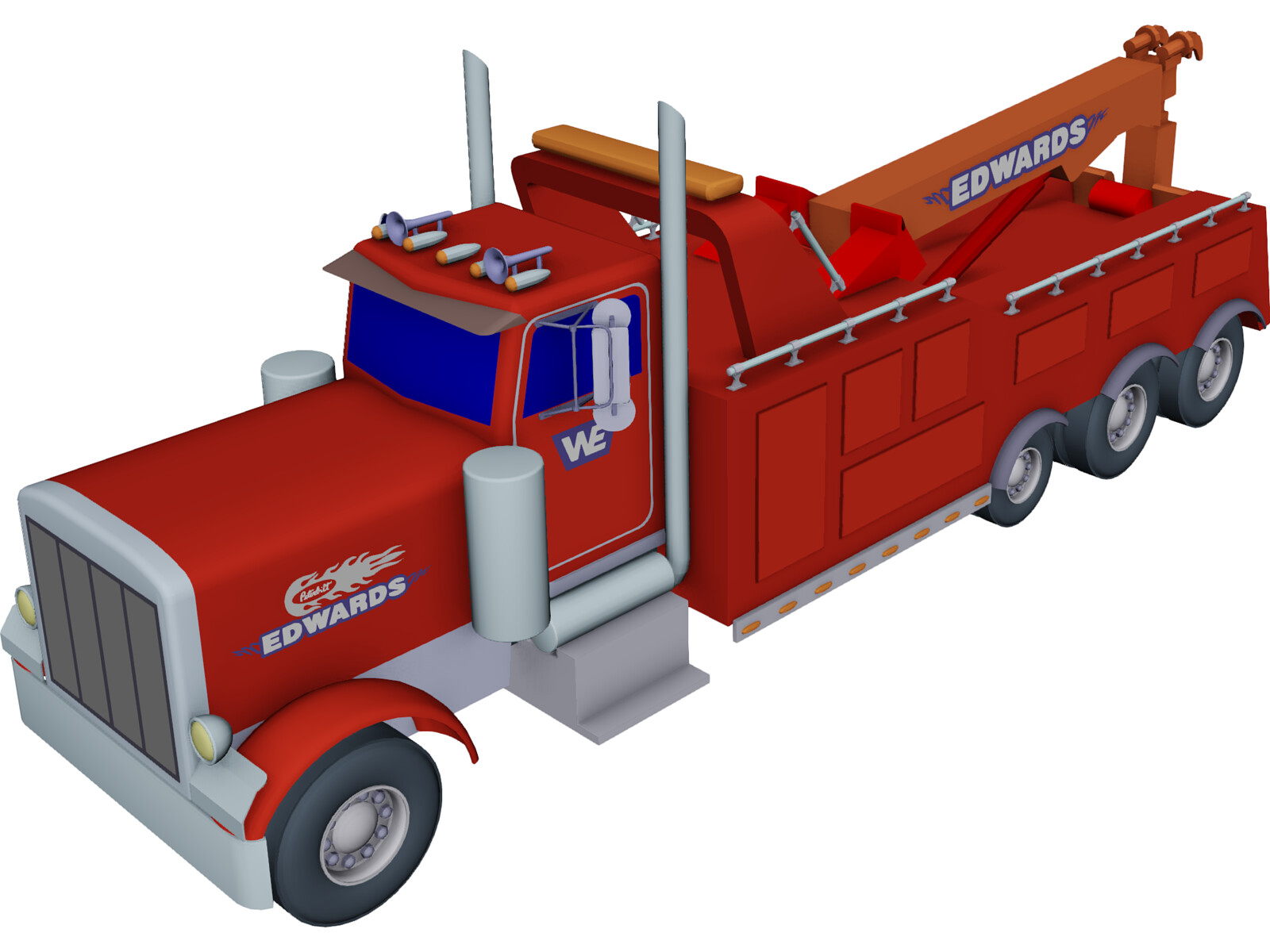 Tri Axle Roll Back : Peterbilt tri axle wrecker d model cad browser