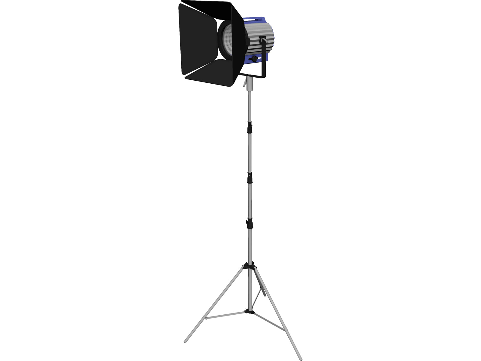 Studio Light with Stand 3D Model
