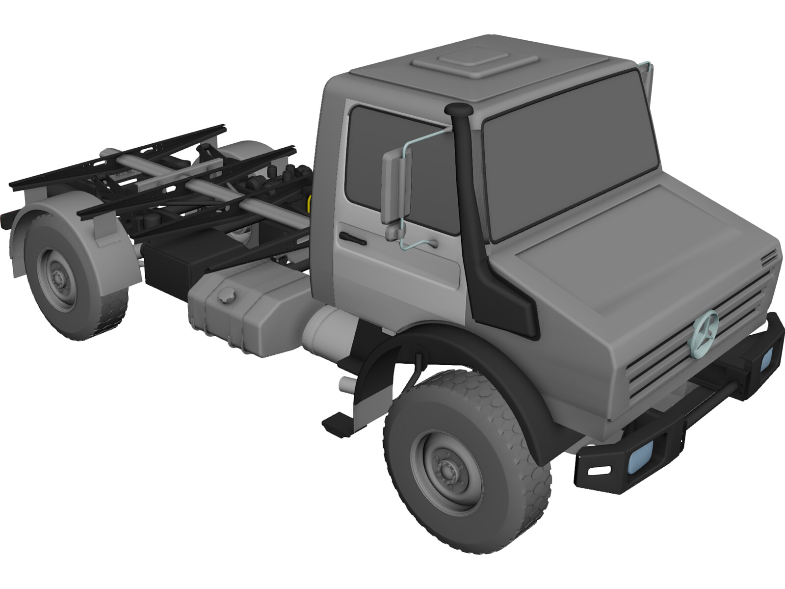 Mercedes-Benz Unimog 4000 3D CAD Model