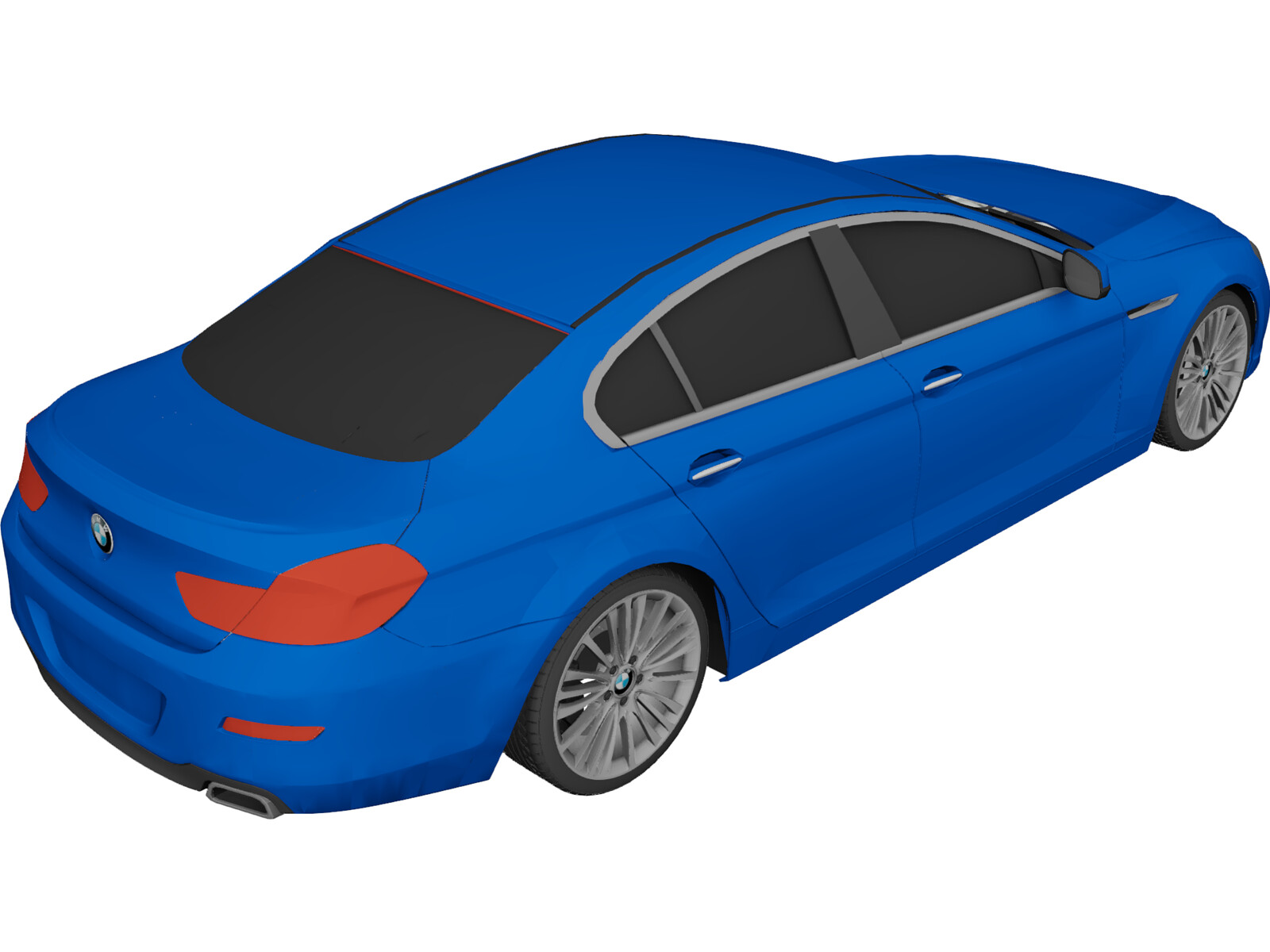 BMW 6-Series Gran Coupe (2013) 3D Model